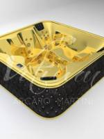 Whirlpool gold and black leather