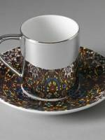 Butterfly art work cup and saucer set