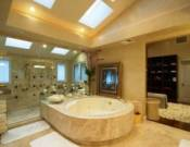 Luxurious owner's suite bathroom