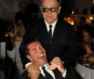 Simon cowell and Sir Elton John
