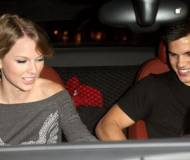 Taylor Swift with her boyfriend Taylor Lautner