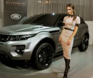 Victoria with her customized Range Rover