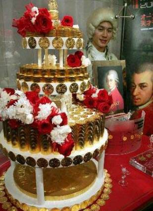 $2.16 million Vienna Gold Coin Cake to commemorate Mozart's 250th Anniversary