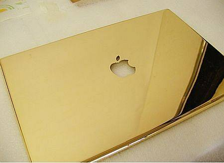 gold plated macbook