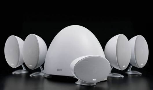 KEF E305 home theatre system is designed to bowl you over, literally