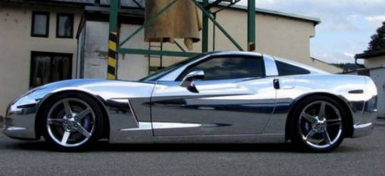 Chrome Chevrolet Corvette