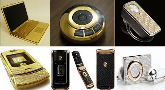 diamond studded gadgets