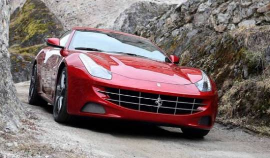 2013 Ferrari FF with iPad