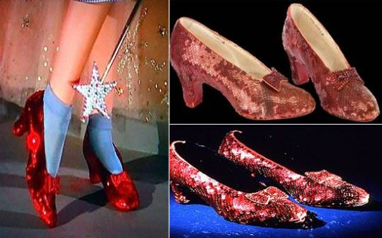 'Wizard of Oz' Ruby slippers