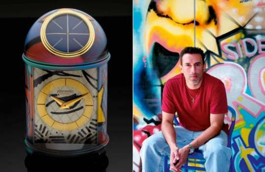 Patek Philippe Dome Clock by artist John 'Crash' Matos at Antiquorum