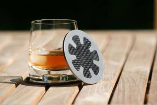 black badger carbon fiber coasters 3
