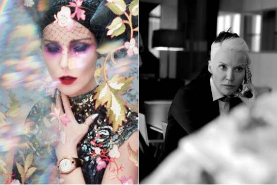Daphne Guinness is now the few face of watchmaker Roger Dubuis's feminine watch collection