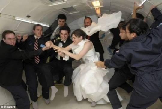 zero gravity wedding 1