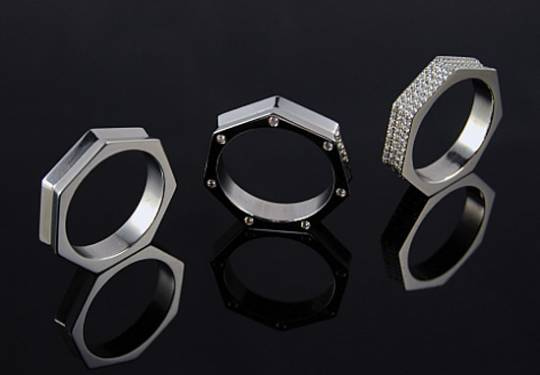 Brikk Heptagonal Men's ring