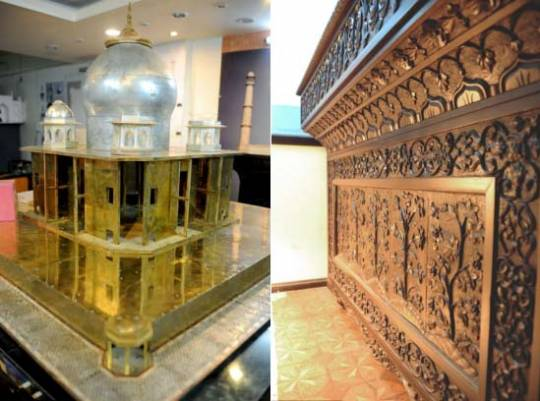 Bejeweled Miniature Taj Mahal isworth £11.5million