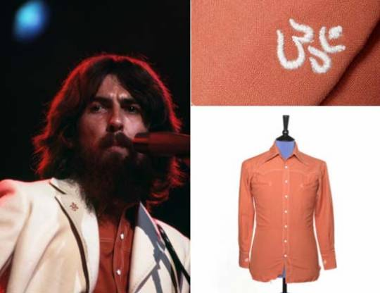 George Harrison's shirt made by Nudie's of Hollywood.