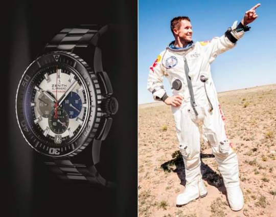 Felix Baumgartner Skydives From Space Wearing Zenith Stratos WristWatch