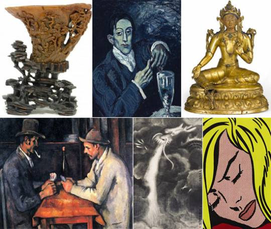 Famous art auctions of 2012