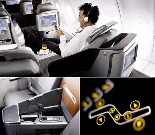 Lufthansa Business Class seats entertainment and multimedia
