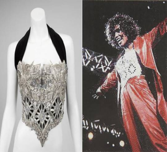 WHITNEY HOUSTON BEADED BUSTIER