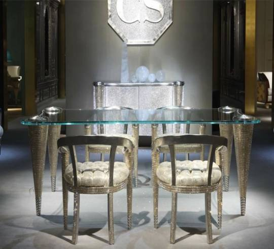 High In Design Rampazzi Swarovski Crystal Furniture