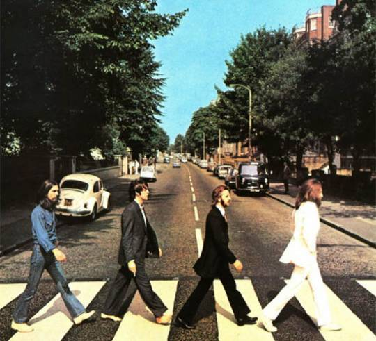 The original cover photo of Beatle's Abbey Road