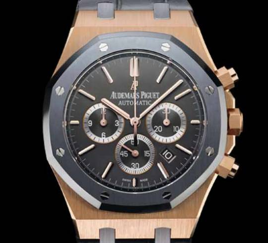 Lionel Messi with Audemars Piguet No.10 Royal Oak Chronograph watch in rose gold