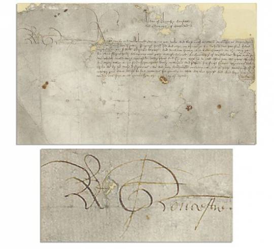 King Richard III signed document