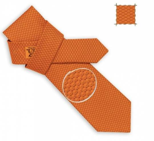 Hermes Tie Collection for the nerds features digital motifs