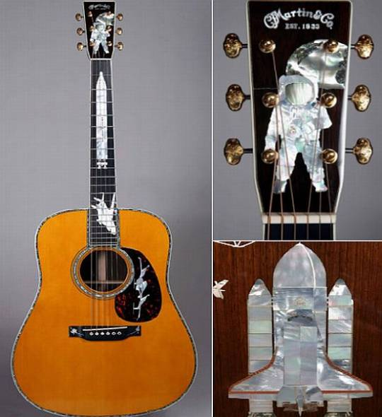 Martin's 'History of Flight' custom inlaid guitar