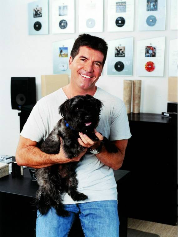 Simon with his terrier named Buster