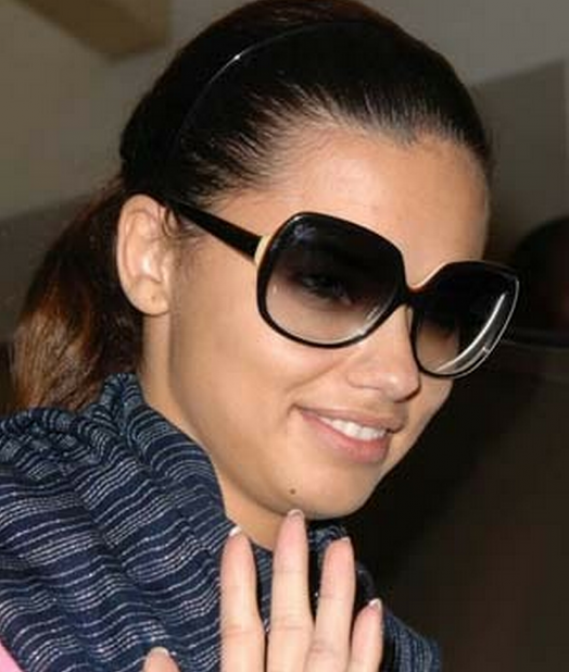 The supermodel Adriana Lima has often been spotted shading her eyes with the Audrey-Hepburn-style large sunglasses from Dita.