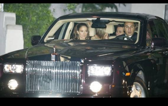 Jennifer Lopez has been spotted several times with her Rolls Royce Ghost