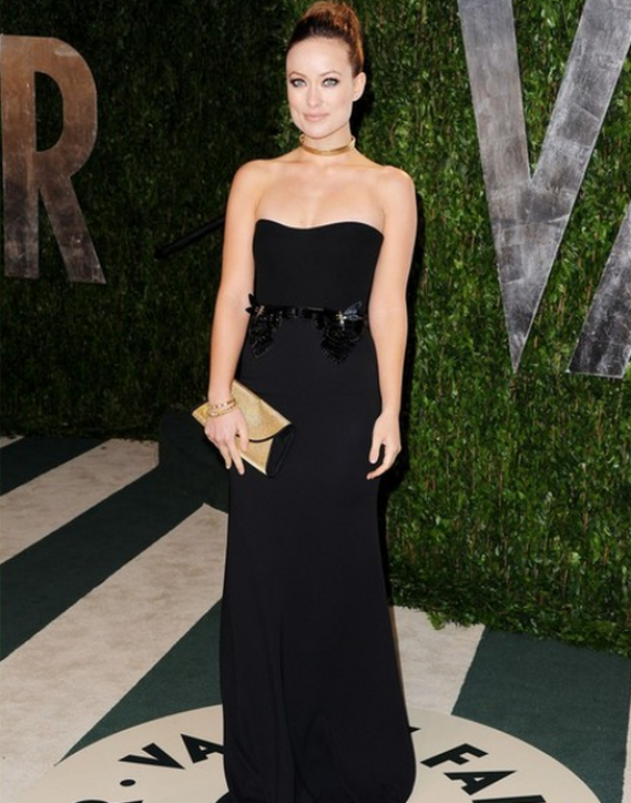 This designer clutch is one of her favorite accessories and she carried it to the Vanity Fair Oscar Party in February 2012.