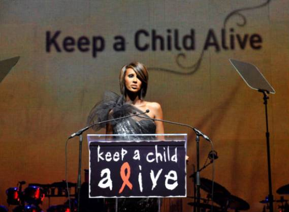 Magic Johnson and number of celebrities supports Keep A Child Alive  charity.