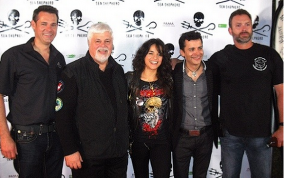 Michelle Rodriguez after completing her Sea Shepherd Conservation training.