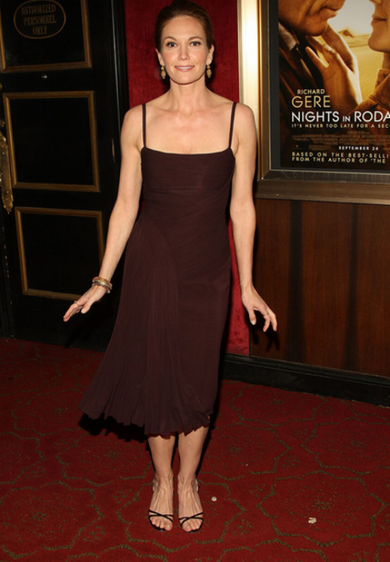 "The actress was spotted wearing these designer leather sandals to the premiere of ""Nights in Rodanthe"" in New York City"