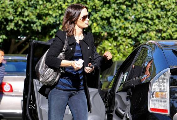 photo of Emily Blunt Toyota Prius - car