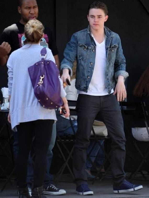 Jesse McCartney can be often seen wearing the well-worn denim jacket from Gap.