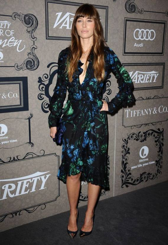 "The model attended ""Variety's 4th Annual power of Women"" event looking glamorous in this dress."