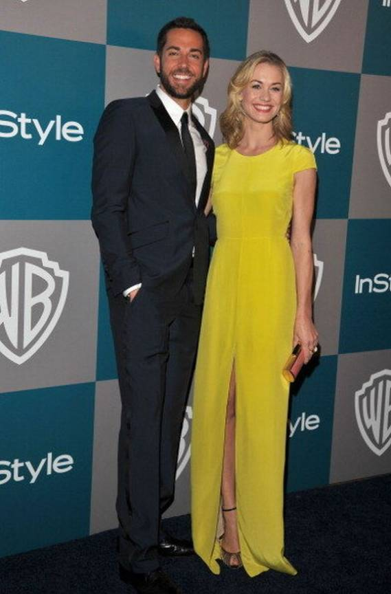 Strahovski attended a prestigious event wearing the classic Jenni Kayne Gown.