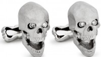 Ralph Lauren skull cuff-links to spook you in style