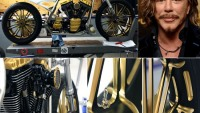 Mickey Rourke's custom made motorbike has been given the 'Midas touch' by Roland Sands Design