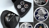 Darth Vader silver coin set for Star Wars fans
