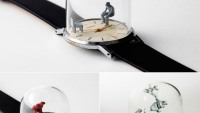 Dominic Wilcox creates 'Moments in Time' watch sculptures