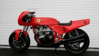 One-off custom made Ferrari motorcycle for sale
