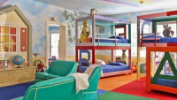 Fully outfitted child's nursery