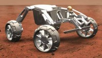 Sandstalker: Space age wheels to explore extra-terrestrial terrain!
