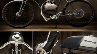Derringer Cycle X restoration combines a bike and cycle into an artistic ride