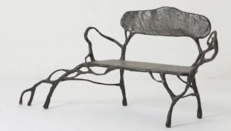 $4,800 twig-inspired bench is one of a kind eco friendly furniture for wealthy art lovers